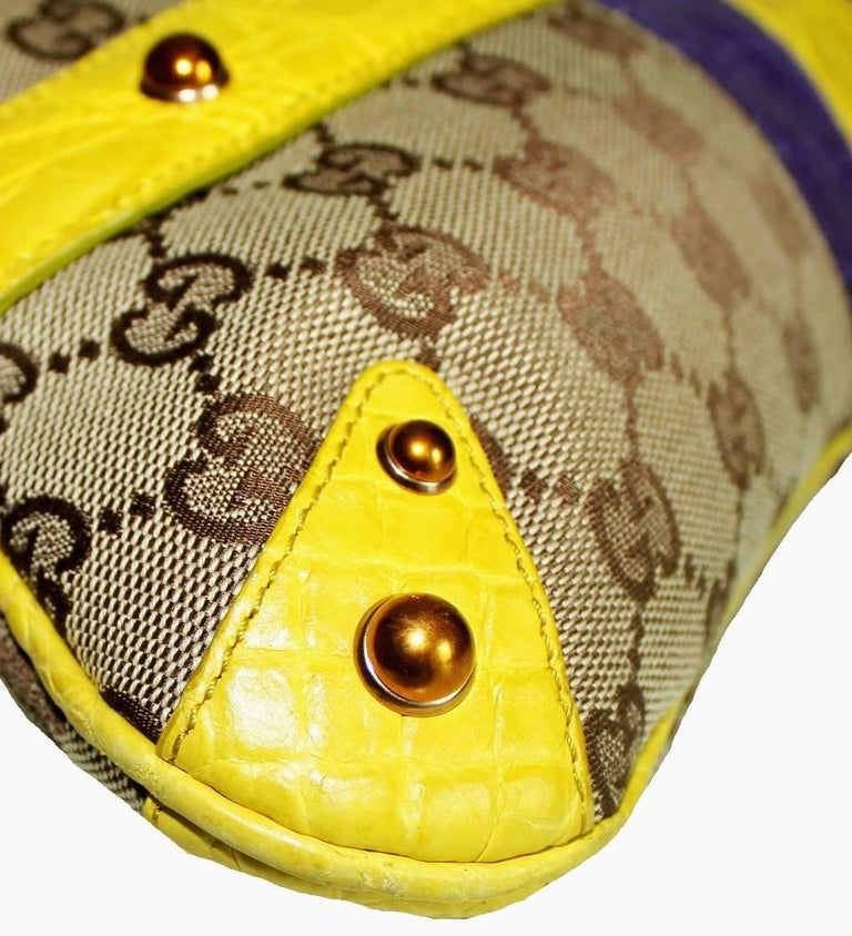 Gucci Tom Ford SS 2004 XL GG Monogram Jeweled Snake Head Bag In Good Condition For Sale In Switzerland, CH