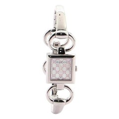 Gucci Tornabuoni Square Quartz Watch Watch Stainless Steel with Diamond