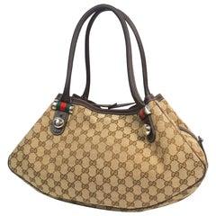 GUCCI tote bag Shelly line Womens shoulder bag 232971 beige x brown