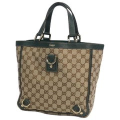 GUCCI tote bag Womens handbag 130739 beige x green