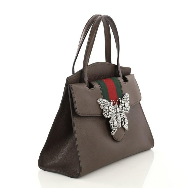 b5a1fb86047 Gucci Totem Top Handle Bag Leather Medium For Sale at 1stdibs