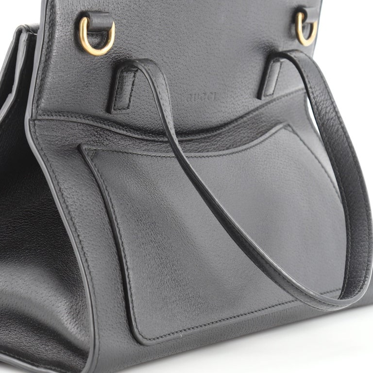 Gucci Totem Top Handle Bag Leather Medium For Sale 2