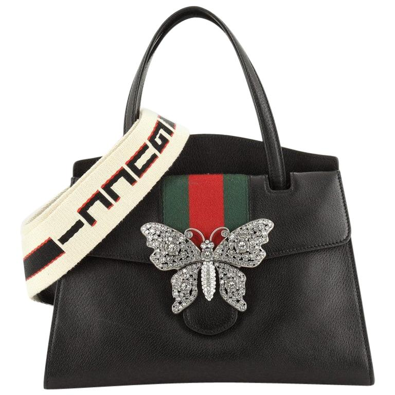 Gucci Totem Top Handle Bag Leather Medium For Sale