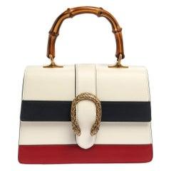 Gucci Tri Color Leather Medium Dionysus Bamboo Top Handle Bag