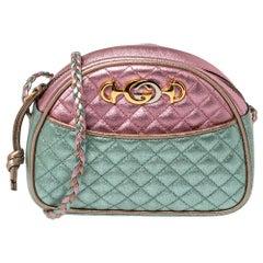 Gucci Tri Color Quilted Leather Mini Trapuntata Crossbody Bag