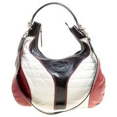 Gucci Tricolor Leather Snow Glam Medium Hobo