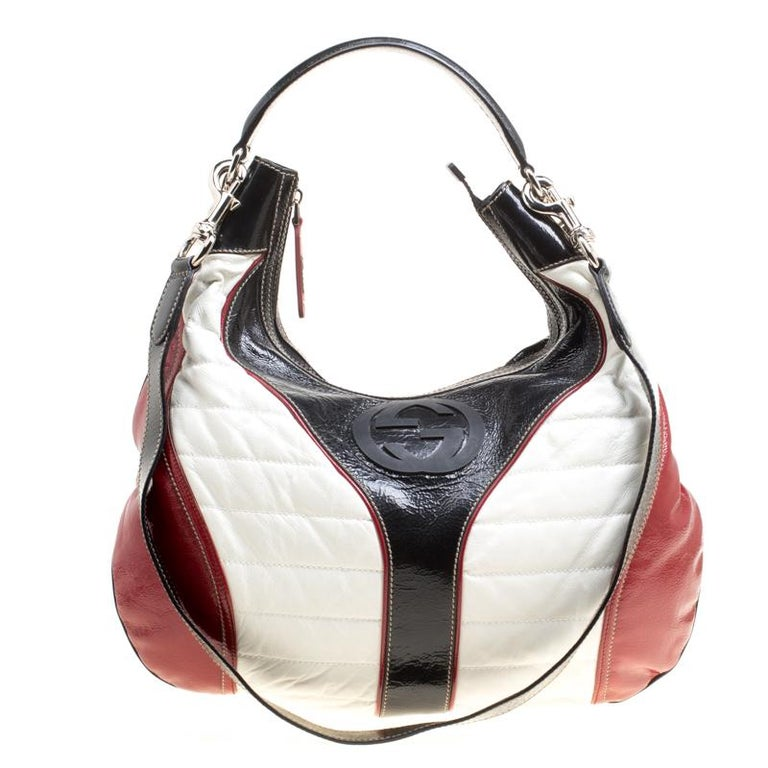 5fc366a814d3 Gucci Tricolor Leather Snow Glam Medium Hobo For Sale at 1stdibs