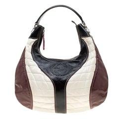 Gucci Tricolor Patent Leather Medium Snow Glam Hobo