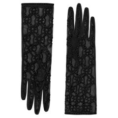 Gucci Tulle Gloves with GG Motif (Small) 432086