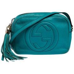 Gucci Turquoise Leather Soho Disco Crossbody Bag