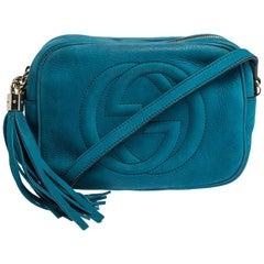 Gucci Turquoise Nubuck Leather Soho Disco Shoudler Bag