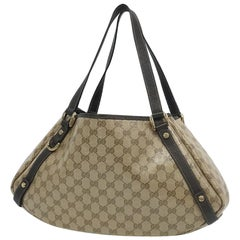 GUCCI Twins GG Crystal Womens shoulder bag 293578 beige x brown