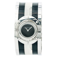 Gucci Twirl 112 With 6 mm Band, Stainless-Steel Bezel & Black Dial