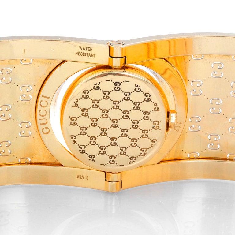 Gucci Twirl 18 Karat Yellow Gold  Ladies Watch For Sale 1