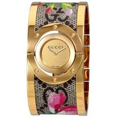 Gucci Twirl Bloom Gold Twirling Dial Watch YA112443
