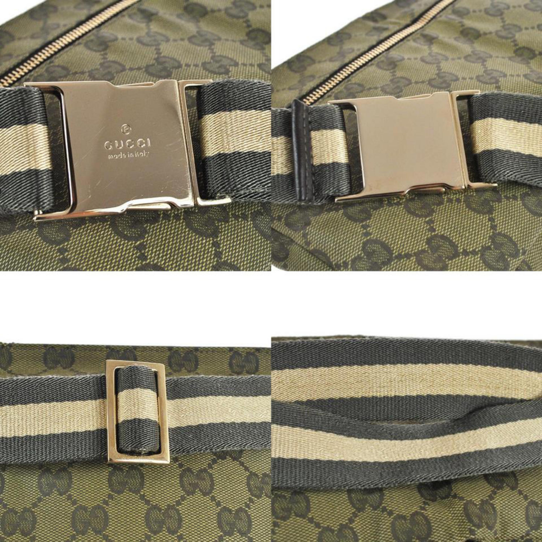 6ac8ffa2ee89 Gucci (Ultra Rare) Monogram Web Khaki Gg Fanny Pack Waist Pouch 868028  Green Can at 1stdibs