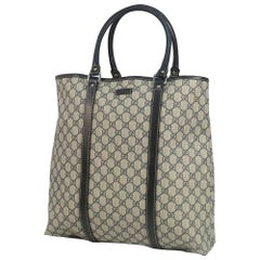 GUCCI unisex tote bag 223668 beige x black