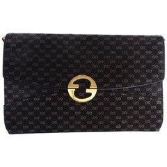 Gucci Velveteen Monogram Bag, 1970s