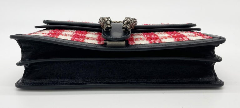 Gucci Vichy Wool Tweed Small Dionysus Shoulder Bag In New Condition For Sale In Philadelphia, PA