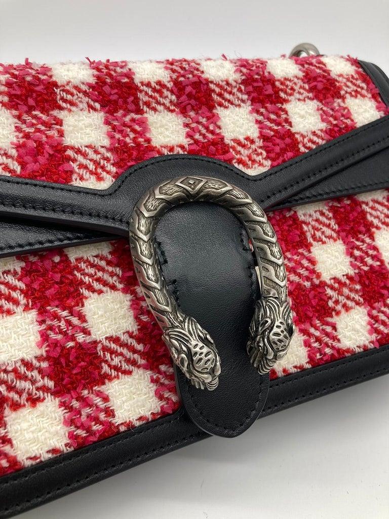 Gucci Vichy Wool Tweed Small Dionysus Shoulder Bag For Sale 1