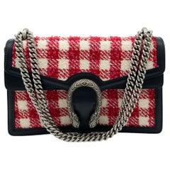 Gucci Vichy Wool Tweed Small Dionysus Shoulder Bag