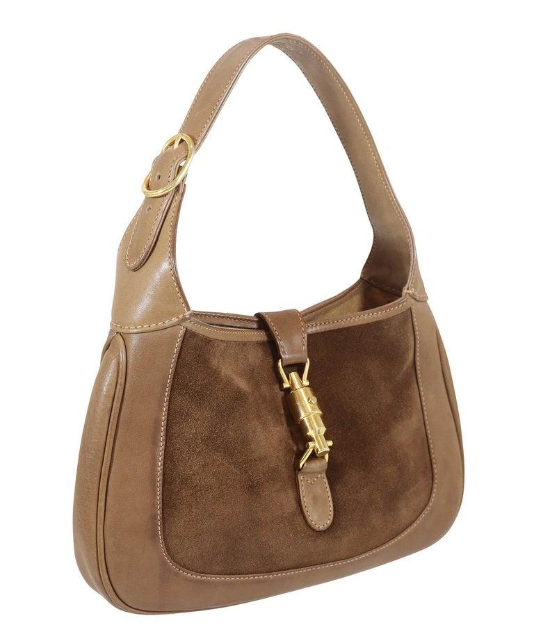 Brown Gucci Vintage 1970's Small Jackie O Bag