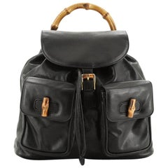Gucci Vintage Bamboo Backpack Leather Medium