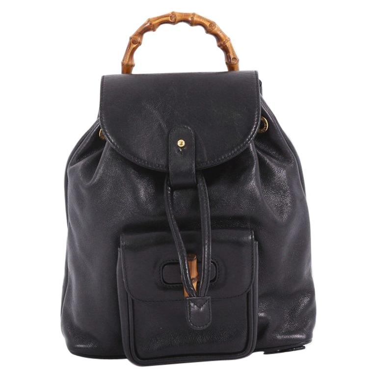 c5366b47c9b Gucci Vintage Bamboo Backpack Leather Mini at 1stdibs