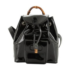 Gucci Vintage Bamboo Backpack Patent Super Mini