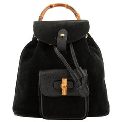Gucci Vintage Bamboo Backpack Suede Mini