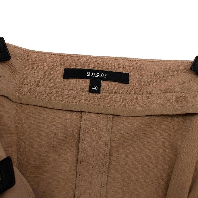 Women's or Men's Gucci Vintage Beige Lace-Up Mini Dress - Size US4 For Sale