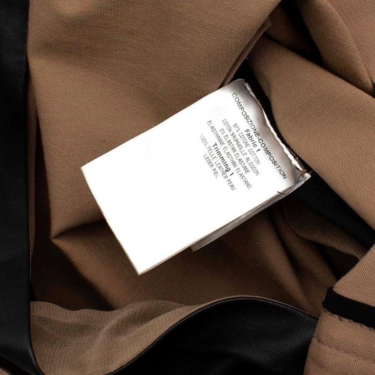 Gucci Vintage Beige Lace-Up Mini Dress - Size US4 For Sale 5