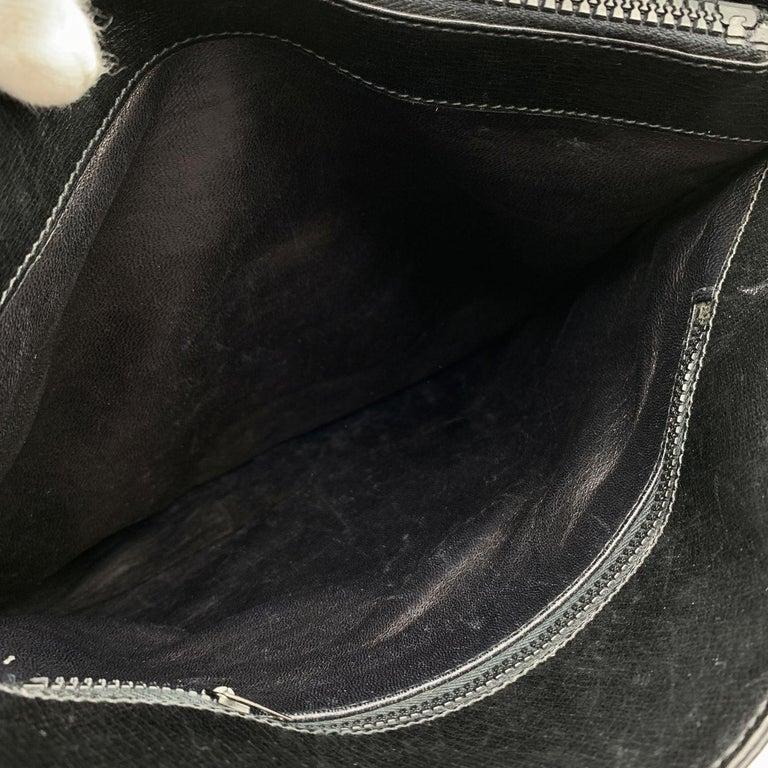 Gucci Vintage Black GG Monogram Canvas Tote Bag with Stripes For Sale 6