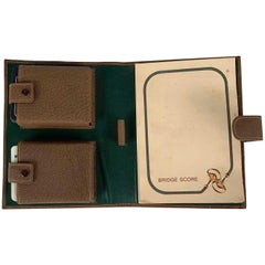 Gucci Vintage Bridge Set 2 Playing Cards Holder and Score Notepad