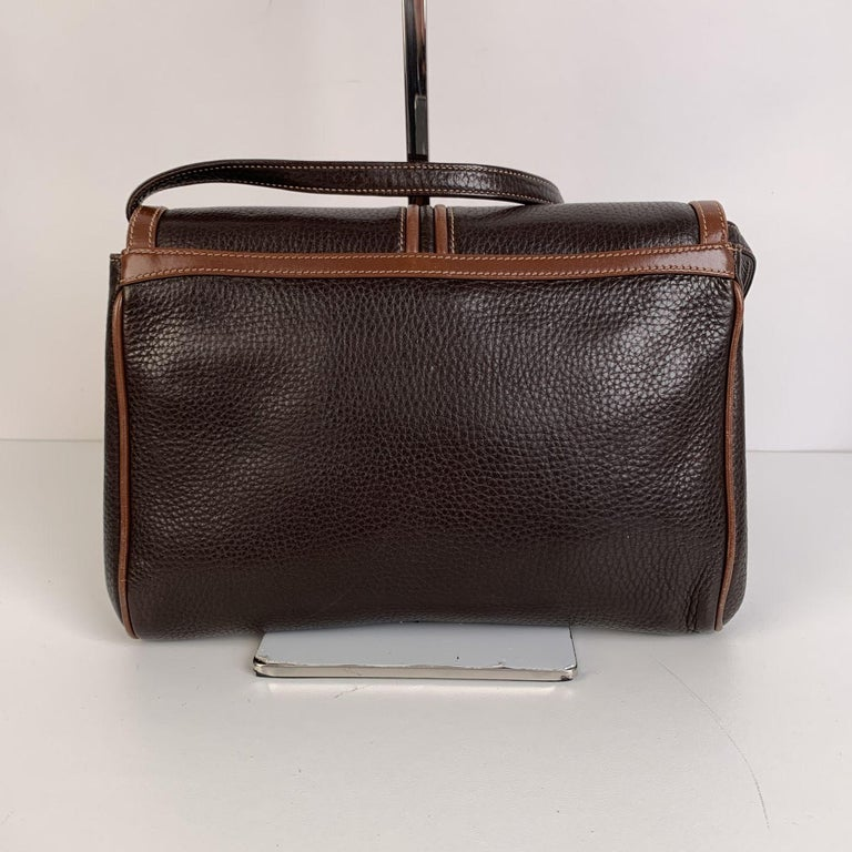 Women's Gucci Vintage Brown Leather Convertible Crossbody Bag For Sale