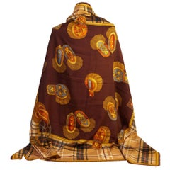 Gucci Vintage Brown Oversize Wall Shawl