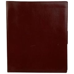 Gucci Vintage Burgundy Leather 5 Ring 1976 Agenda
