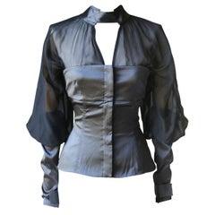 Gucci Vintage Corset Silk-Satin Top