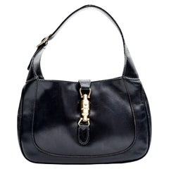 Gucci Vintage Dark Navy Small Classic 1970s Jackie Bag