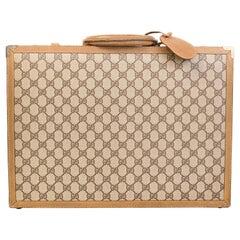 Gucci Vintage Double G Web Canvas Briefcase