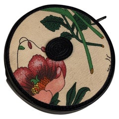 Gucci Vintage Flora Canvas and Leather Round Wallet Coin Purse