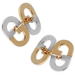 Gucci Vintage GG Two-Tone Cufflinks