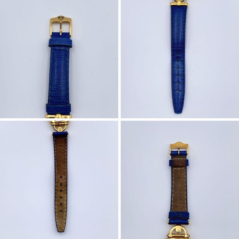 Women's Gucci Vintage Gold Plated Mod 6300 L Wrist Watch White Dial