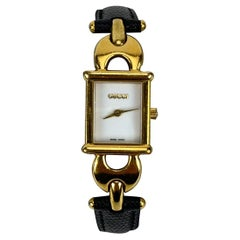 Gucci Vintage Gold Plated Quartz Mod 1800 L Wrist Watch