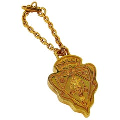 Gucci Vintage Gold Toned Crest Accessory