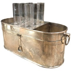Gucci Vintage Ice Bucket with 6 Cups