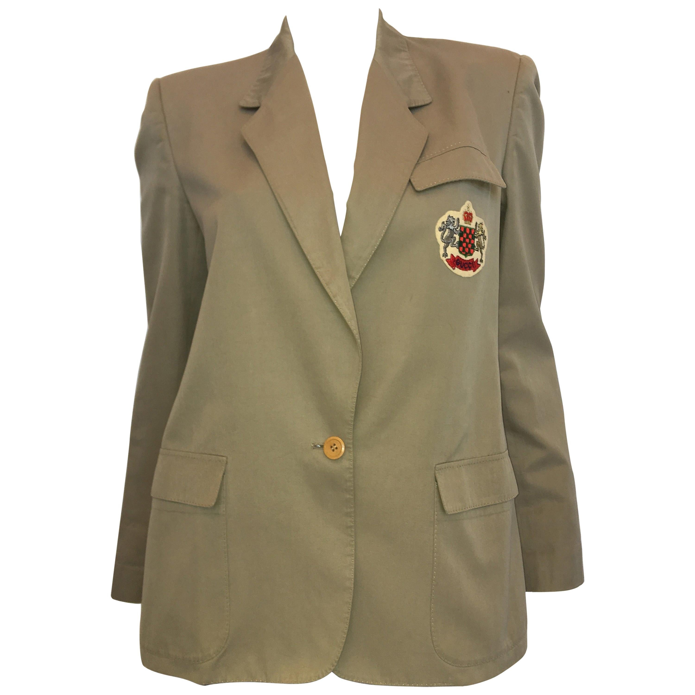 Gucci Vintage Khaki Blazer