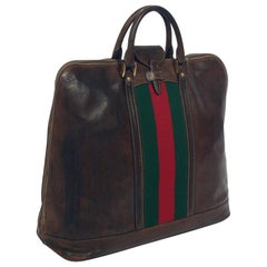 Gucci Vintage Leather Overnighter Bag or Purse