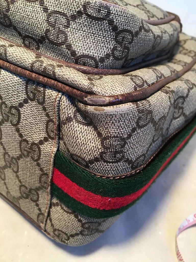 Gucci Vintage Monogram Customized Ladybug Reporter Messenger Shoulder Bag For Sale 5