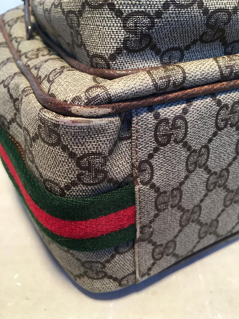 Gucci Vintage Monogram Customized Ladybug Reporter Messenger Shoulder Bag For Sale 6